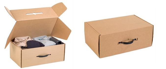 Cardboard storage boxes for travel